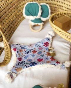 doudou fait main fabrication auvergnate fleuris