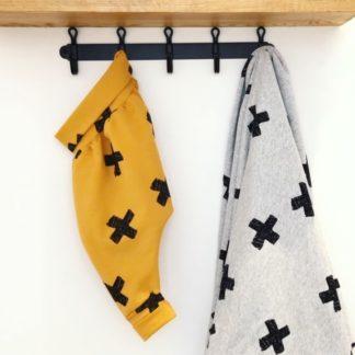 Sarouel bébé mixte croix moutarde