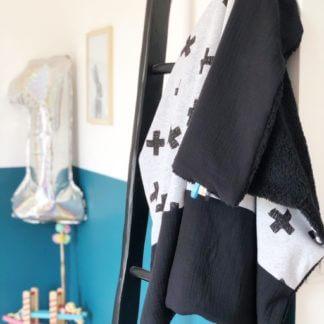 Couverture bébé croix gaze de coton