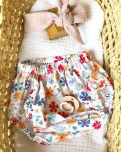 Bloomer fleuris blanc bébé fille clermont fd
