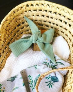 Bandeau vert amande accessoire bébé clermont fd