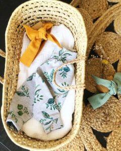 Sarouel herbarium vêtement bébé fait main Clermont fd