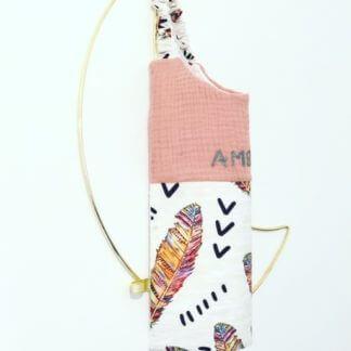 serviette de cantine plume colorée bébé et enfant clermont fd