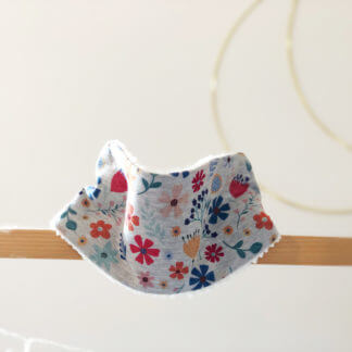 snood enfant made in auvergne fleuri