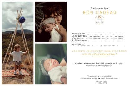 Carte cadeau bébé boutique en ligne made in auvergne