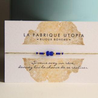 bracelet femme bleu fait main clermont fd