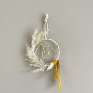 suspension cercle lettre fleurs 2