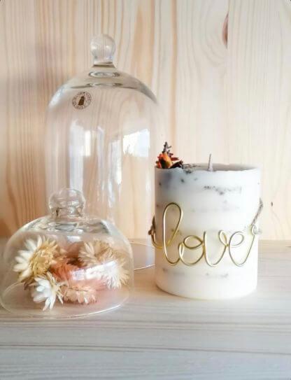 Bougie clermont-fd collaboration graine de lune et fleurs de zel