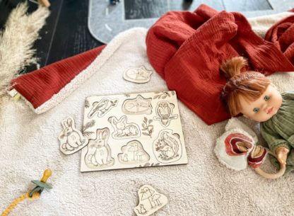 Puzzle bois bébé clermont fd