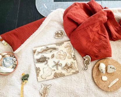 Puzzle bois bébé animaux marins clermont fd