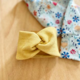 Bandeau turban bébé jaune clermont fd